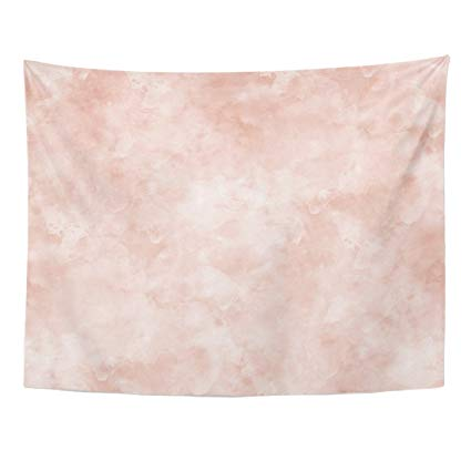 425x425 Tompop Tapestry Pink Marble Watercolor Spots Pattern