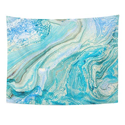 425x425 Varyhome Tapestry Watercolor Marble Blue Marbling