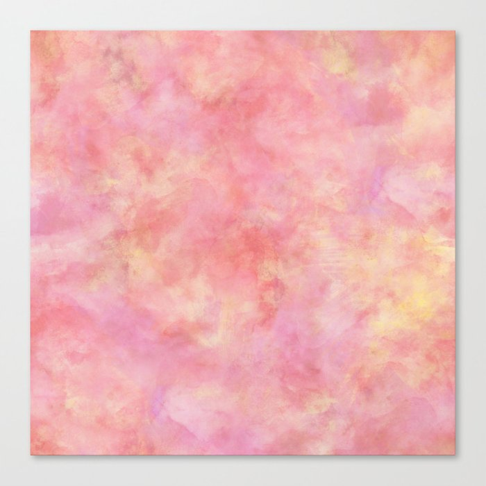 700x700 Blush Pink Amp Peach Marble Watercolor Texture Canvas Print By