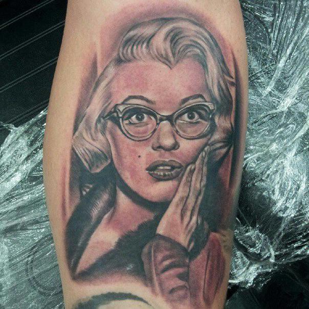 604x604 Glasses Marilyn Monroe Realistic Tattoo Best Tattoo Ideas Gallery