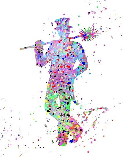 425x541 Artdash Watercolor Splatter Pop Art Print ~ Inspired