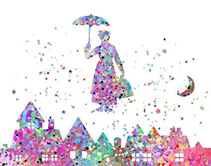 425x334 Watercolor Splatter Pop Art Print ~ Inspired