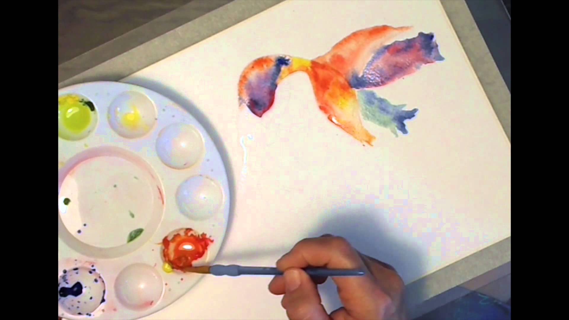 1920x1080 How To Paint A Colorful Watercolor Mermaid