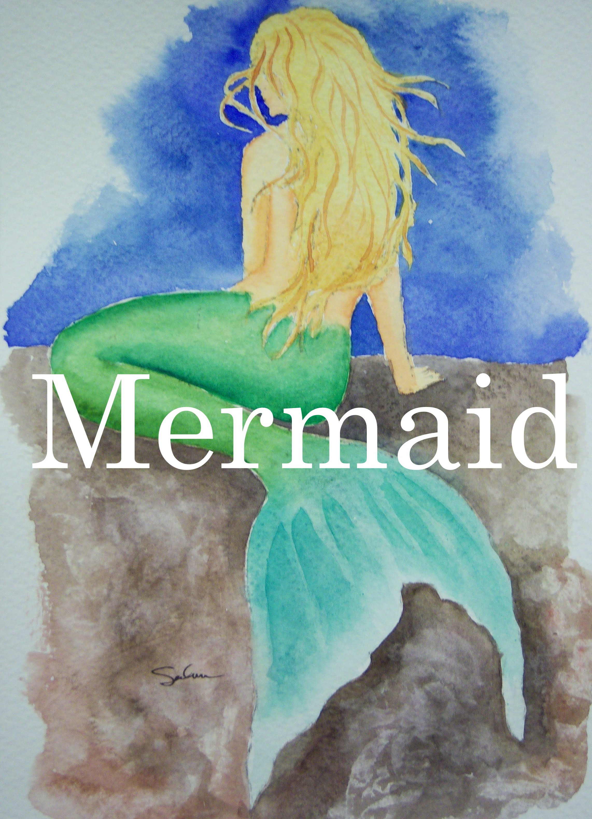 2284x3160 How To Paint A Mermaid In Watercolour Watercolor Woman Kneeling