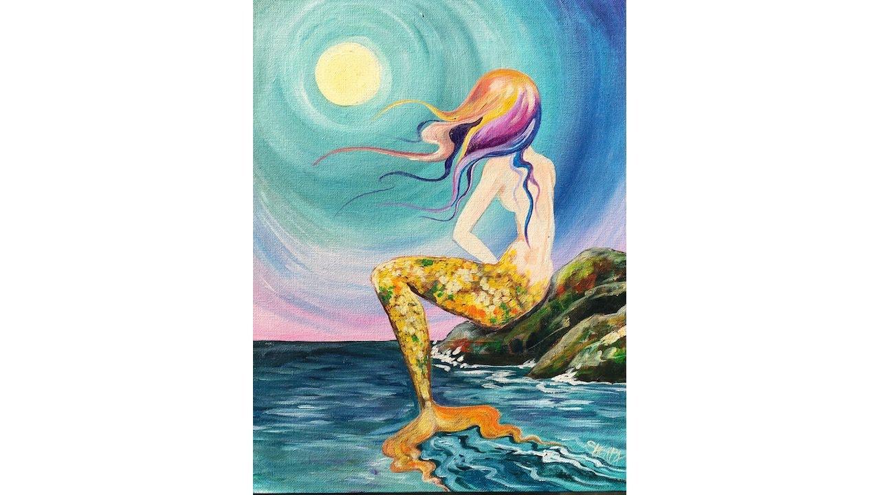 1280x720 Learn To Paint Mermaid Cove Beginner Acrylic Tutorial Angelooney
