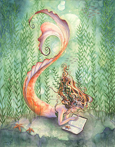 236x300 Mermaid Watercolor Paintings Fine Art America