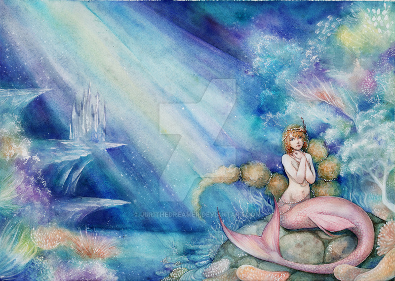 800x569 The Little Mermaid Watercolor By Jurithedreamer
