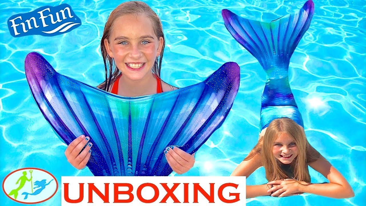 1280x720 The Unboxing Of A Fin Fun Mermaid Tail ~ Watercolor Waves