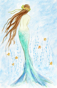 194x300 Mermaid Watercolor Art Fine Art America