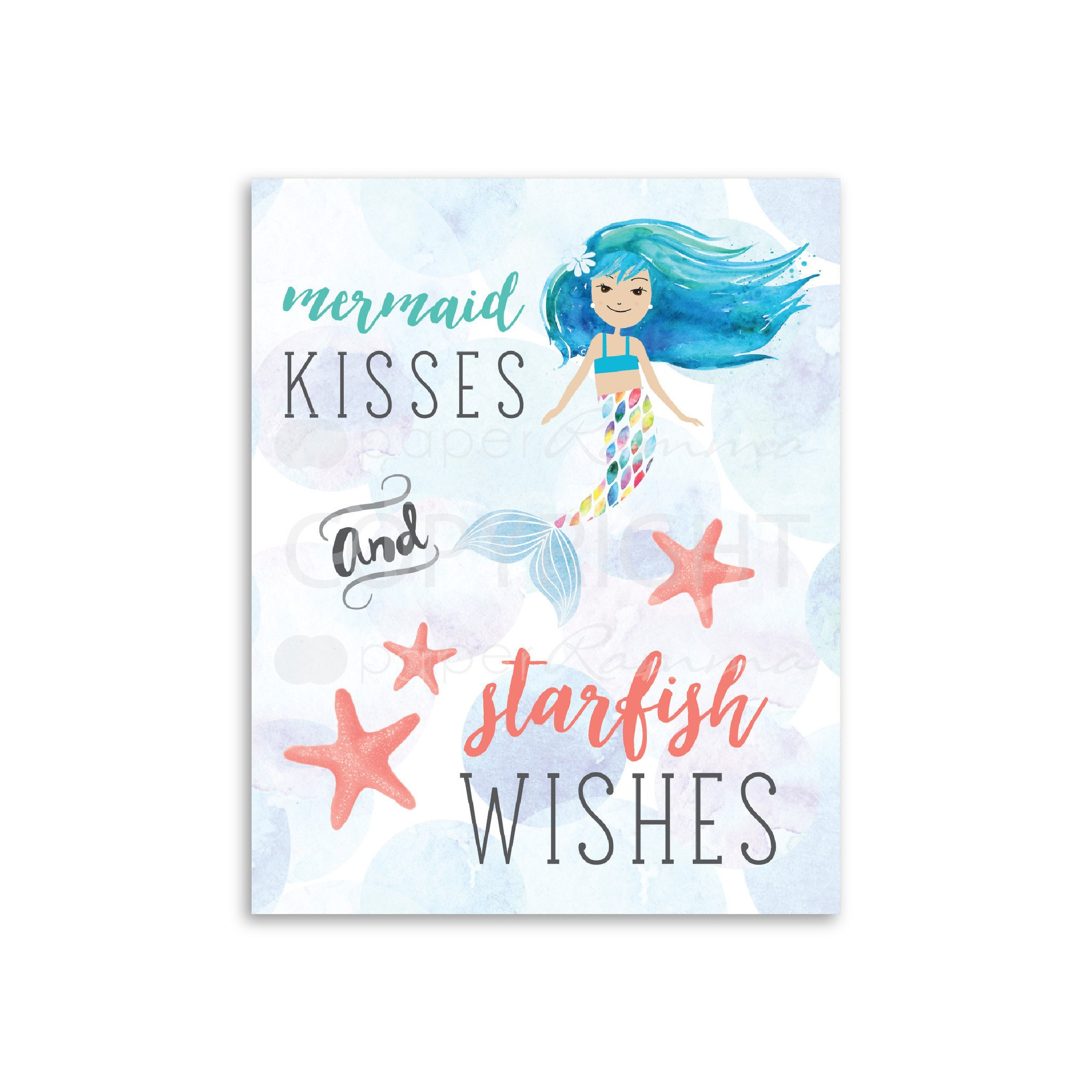 2048x2048 Mermaid Watercolor Nursery Amp Kids Art Print