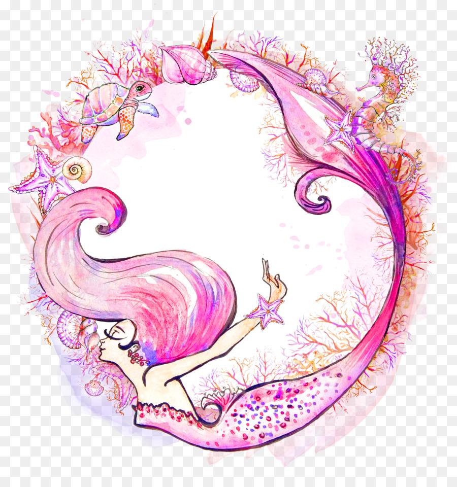 900x960 Mermaid Watercolor Painting Siren Clip Art
