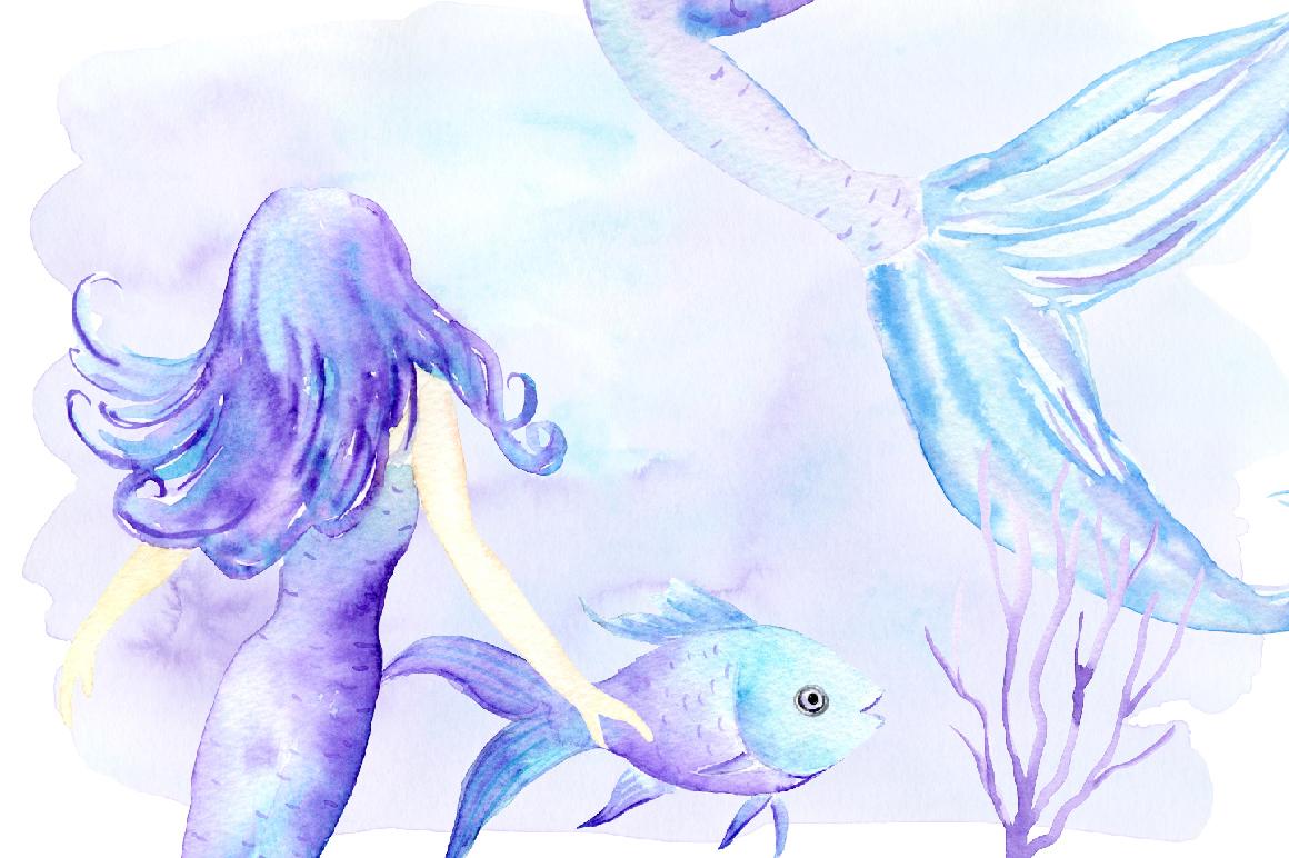 1160x772 Watercolor Mermaid Clip Art By Cornercroft