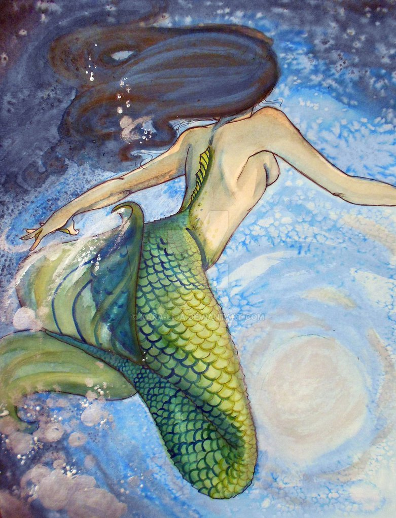 781x1022 Watercolor Mermaid By Kara Lija