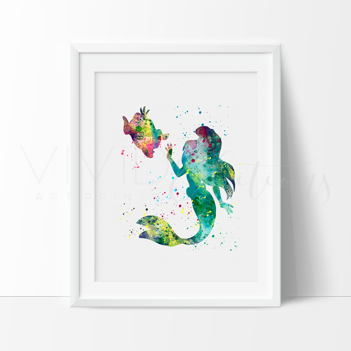 1200x1200 Disney Ariel The Little Mermaid Princess Nursery Art Print Wall