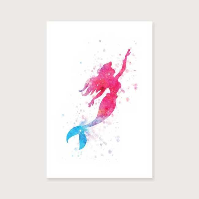 650x650 Buy Swimming Mermaid Watercolor Art Poster