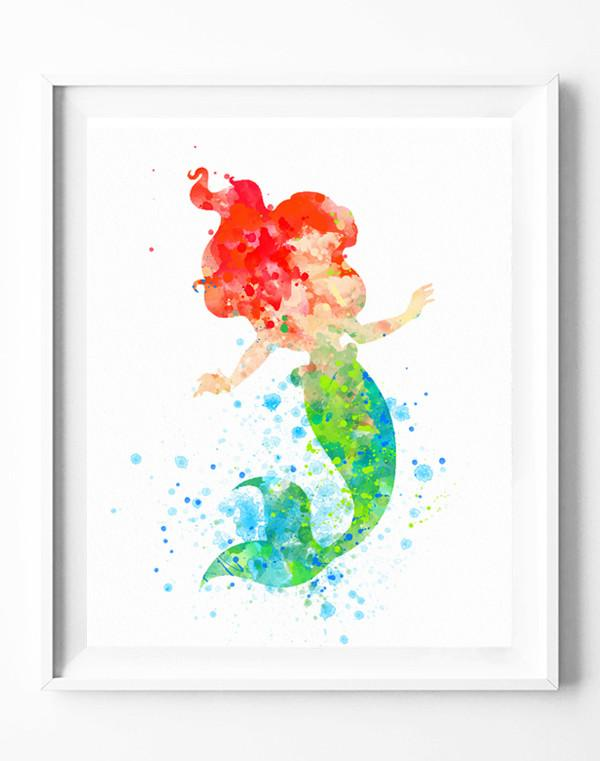600x761 Disney Princess Ariel Poster The Little Mermaid Art Print
