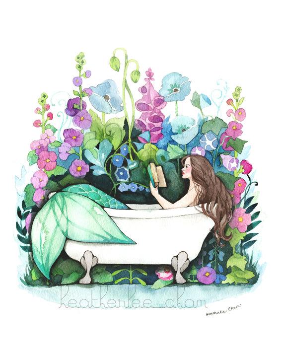 570x725 Mermaid Art