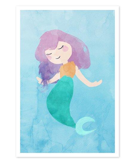 452x543 Oliver Gal Cutie Mermaid Watercolor Art Print Zulily