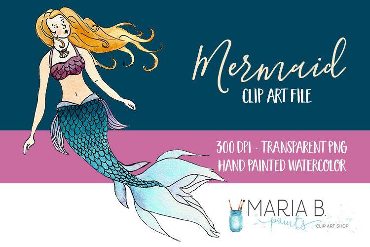750x500 Sea Mermaid Watercolor Clip Art Png
