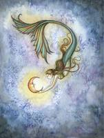 151x200 Stunning Mermaid Watercolor Painting Reproductions For Sale On