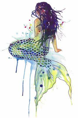 267x400 Watercolor Paintings Of Mermaids Watercolor Mermaid Mermaids