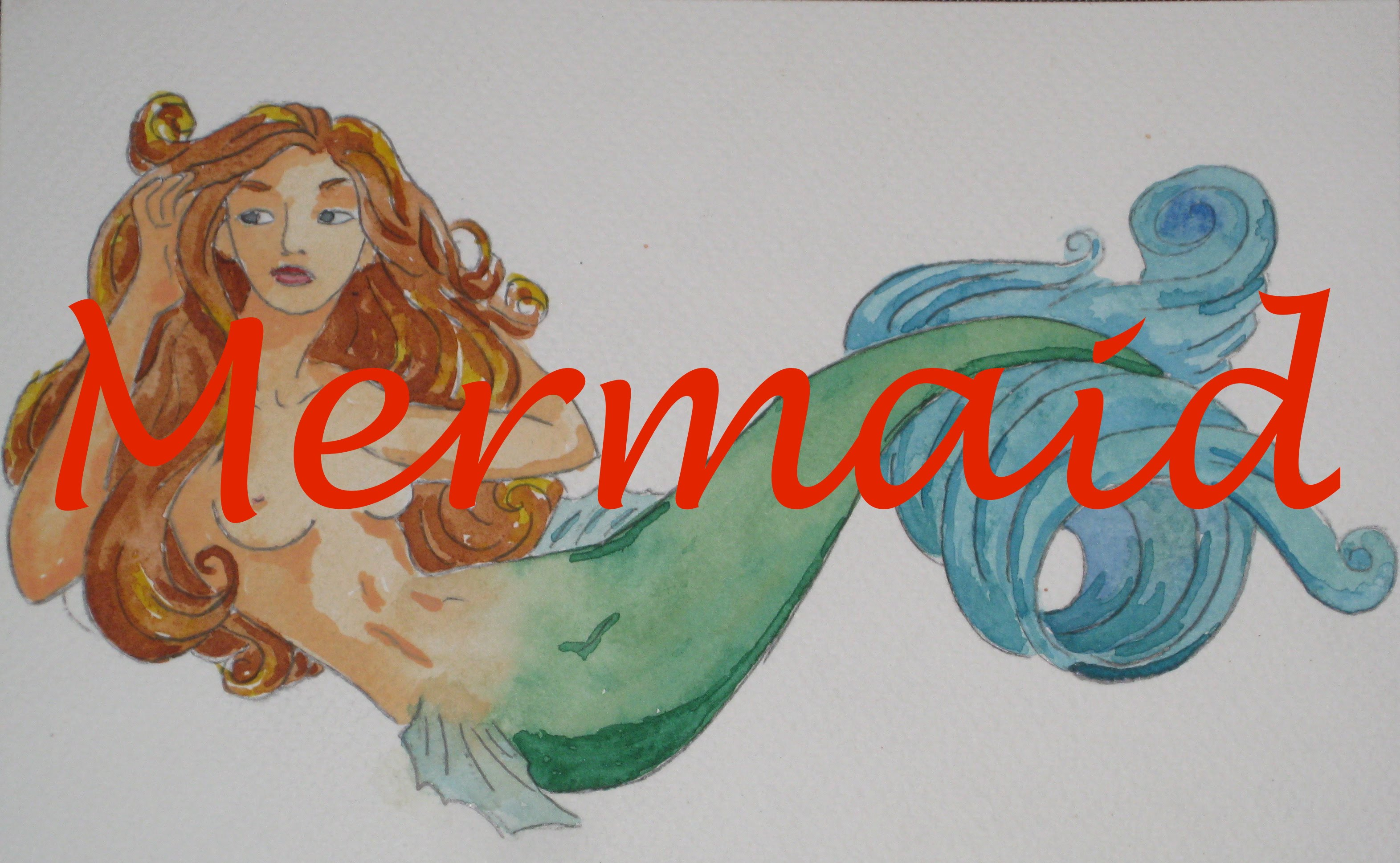 3143x1937 How To Paint A Mermaid In Watercolour Watercolor Woman Tail Fin