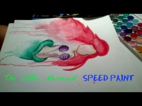 480x360 Little Mermaid Watercolor Speed Paint