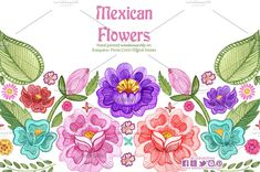 235x156 Mexican Flowers Watercolor Clip Art By Cpandoshop On