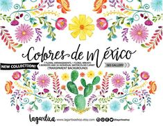 235x183 Mexican Watercolor Floral Clipart, Png, Mexican Party, Flowers