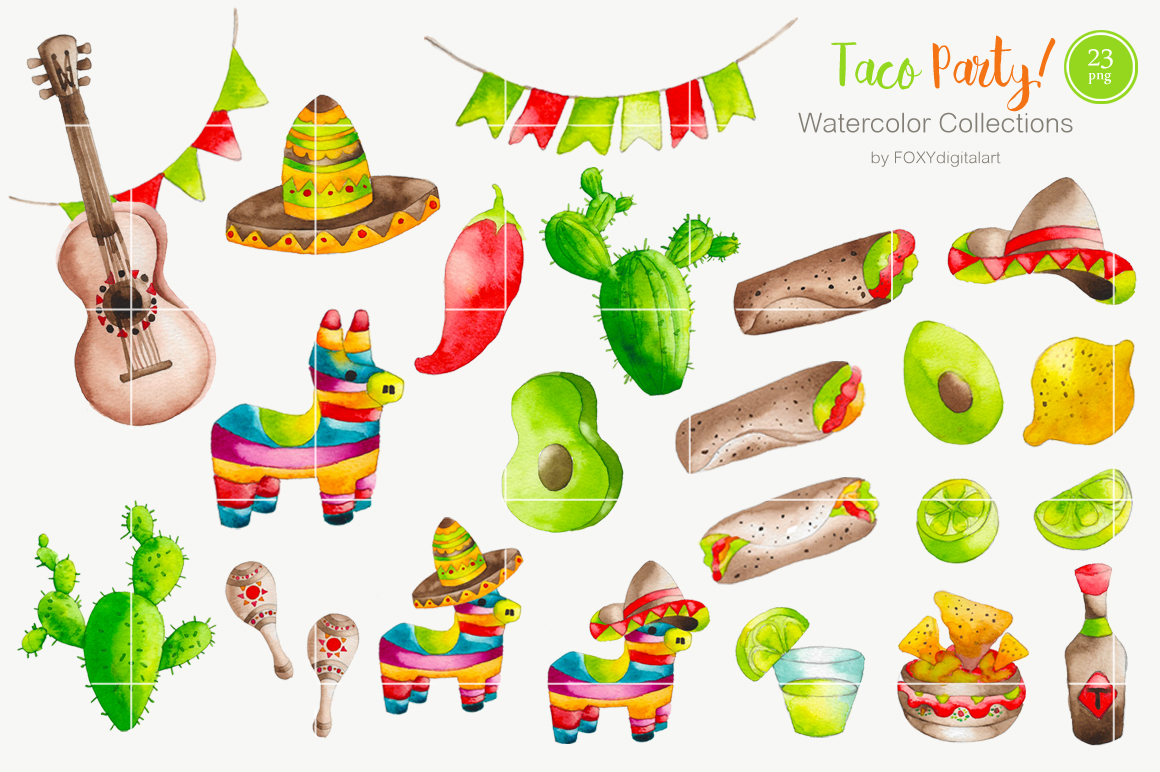 1160x772 Watercolor Taco Mexican Food Clipart By Foxydigitalart