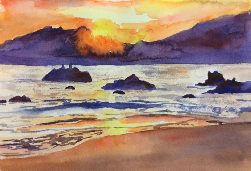 800x544 Mexican Sunset By Ann.hilton@shaw.ca, Cold Press Paper, Sunset