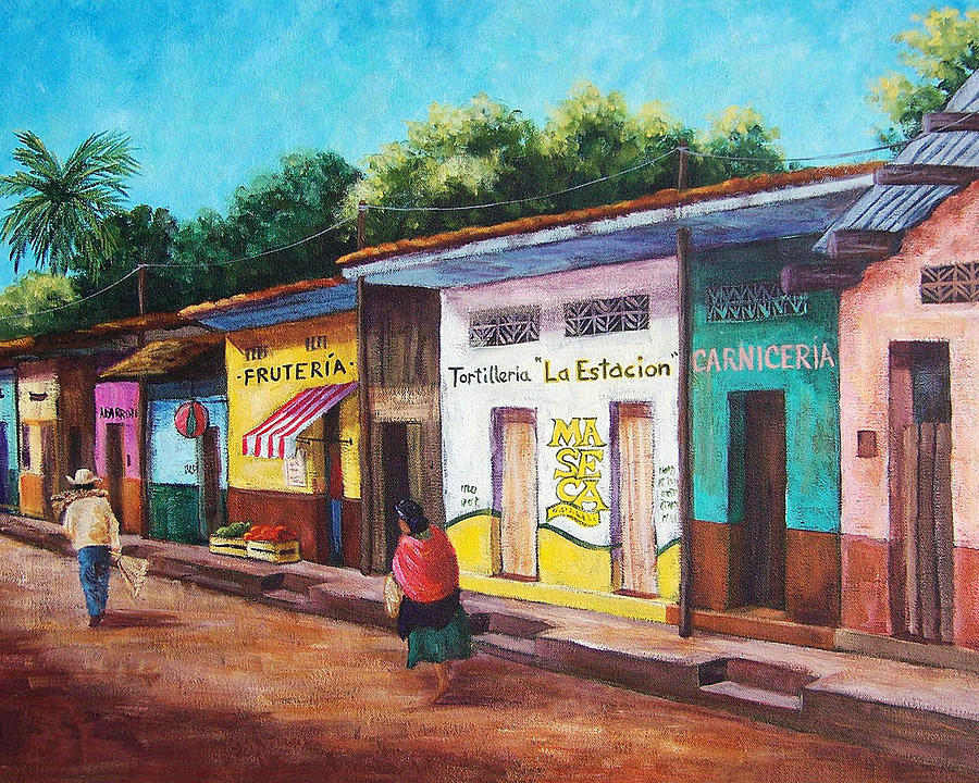 900x720 Mexican Village Paintings Fine Art America