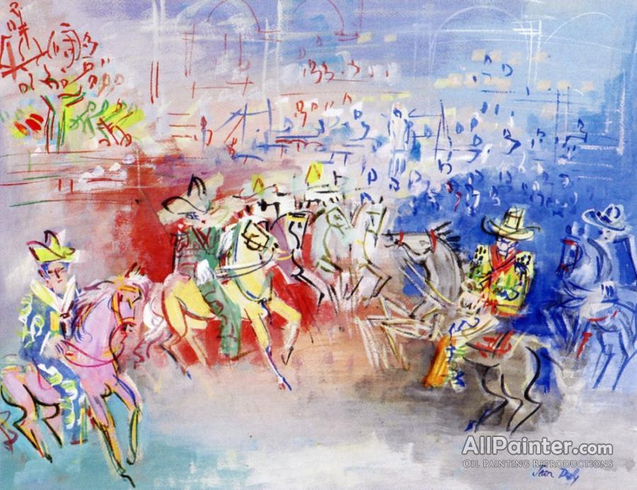 900x693 Jean Dufy Mexican Parade Oil Painting Reproductions For Sale