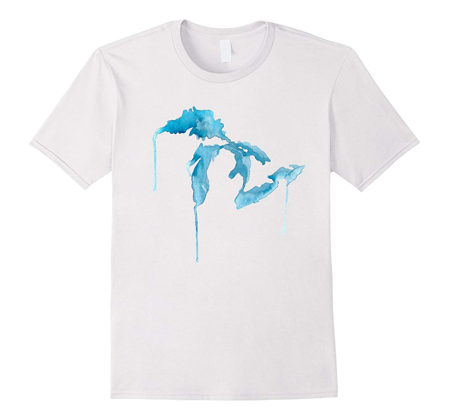 1500x1403 State Of Michigan Watercolor Mitten Great Lakes T Shirt Th