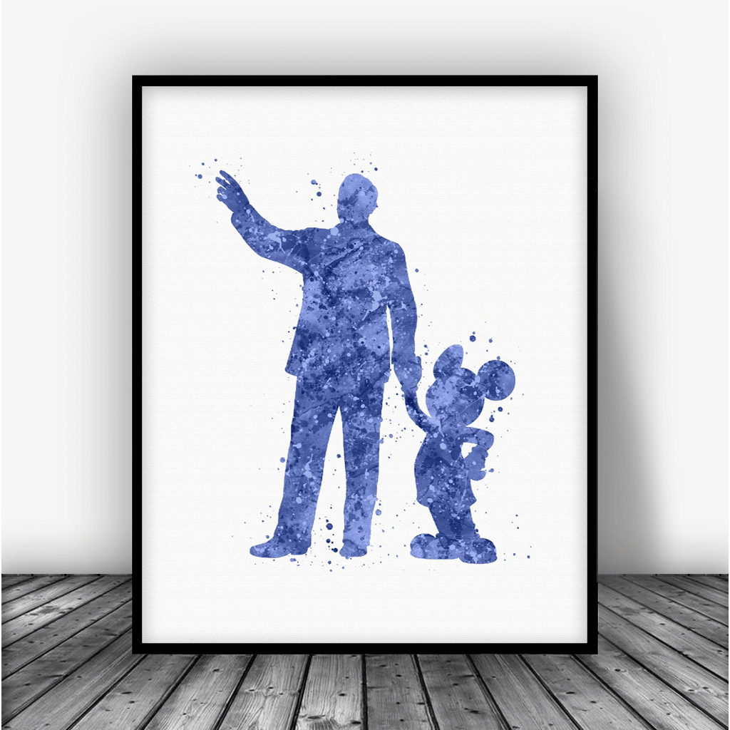 1024x1024 Walt Disney Mickey Mouse Quote Art Print Poster