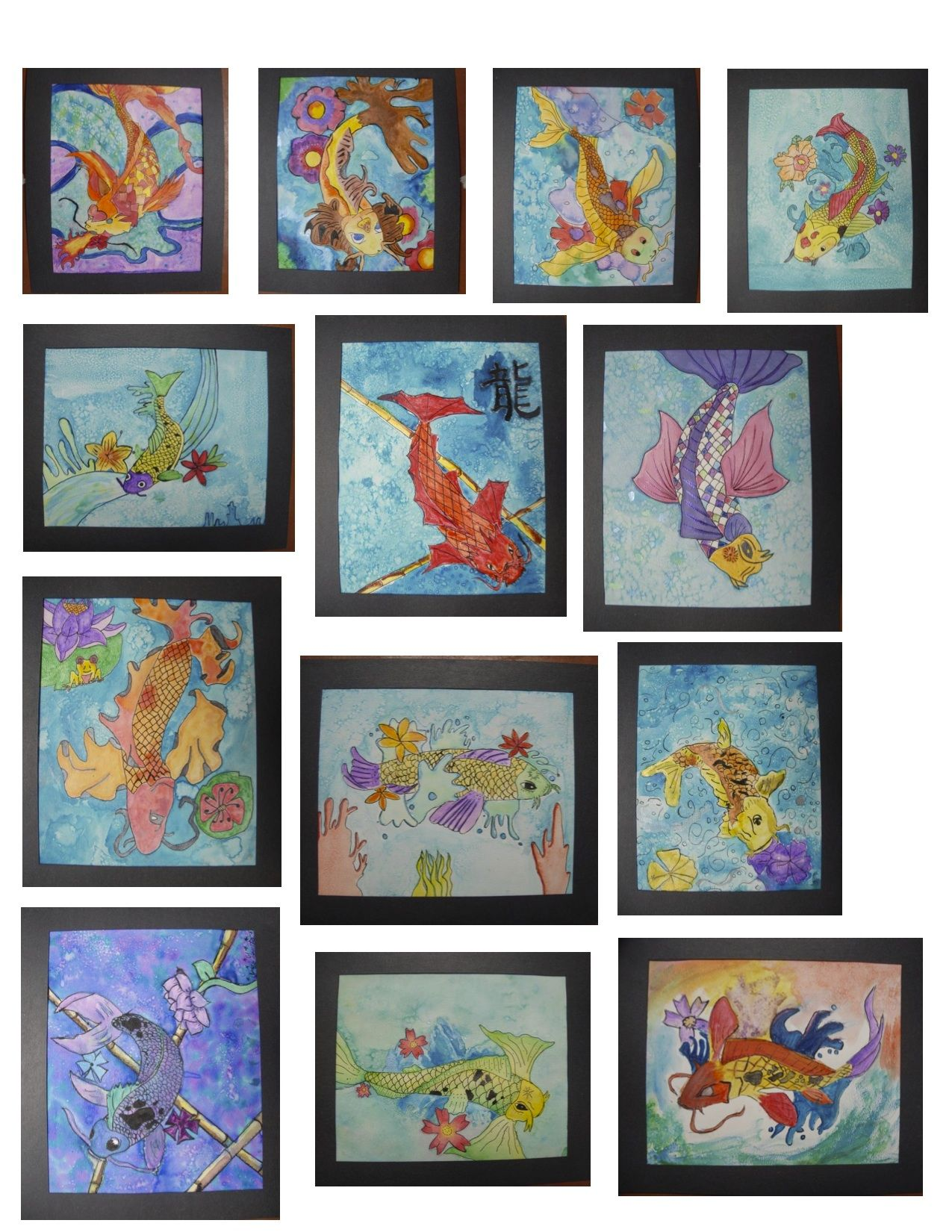 1275x1650 Koi Watercolor Paintings Created By My Middle School Art Students