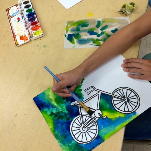 640x640 Steam Art Project Middle School Bicycle Paintings
