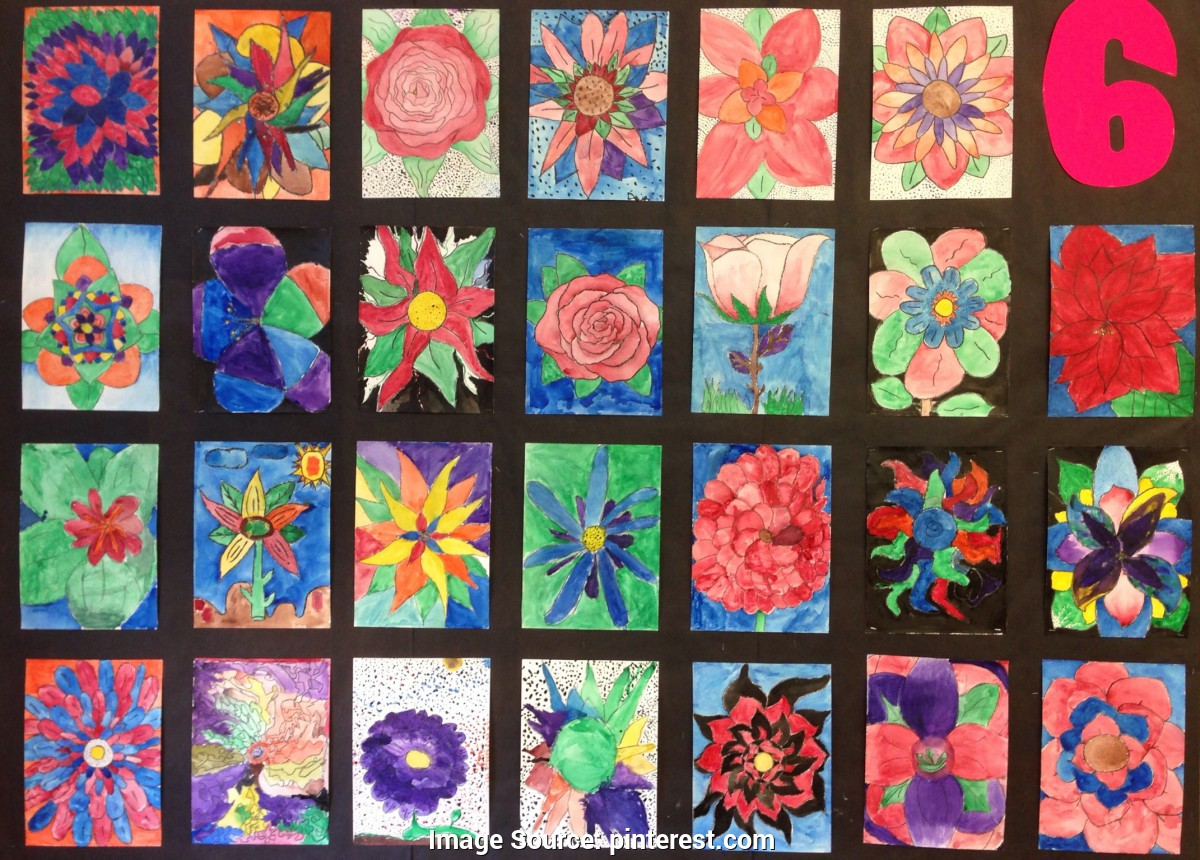 1200x860 Special Middle School Art Ideas Flower Watercolor Paintings