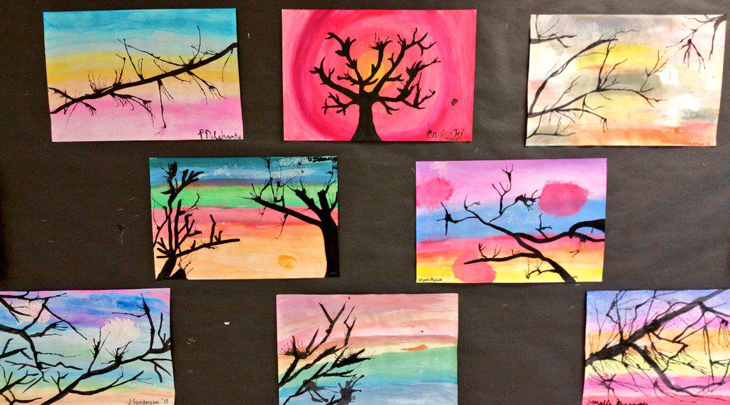 1024x568 We Middle School On Twitter Watercolor Landscapes. From Our
