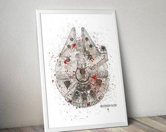 340x270 Millennium Falcon Patent Print Star Wars Print Millennium