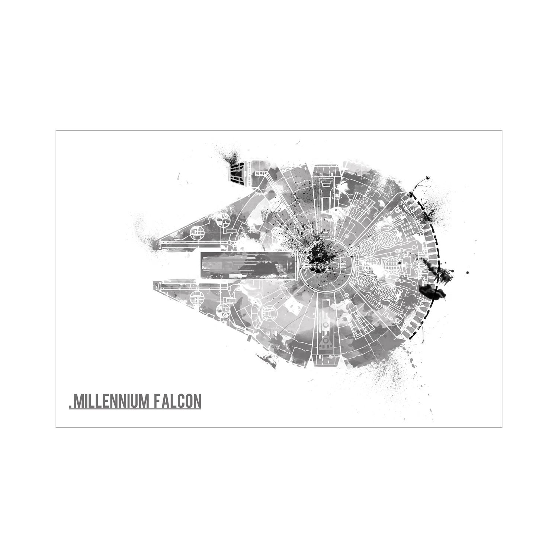 1500x1500 Star Wars Harshness Millennium Falcon (16l X 12h