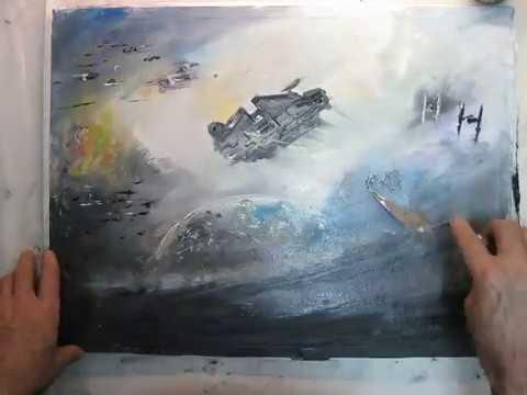 480x360 Millennium Falcon Modern Painting On Canvas