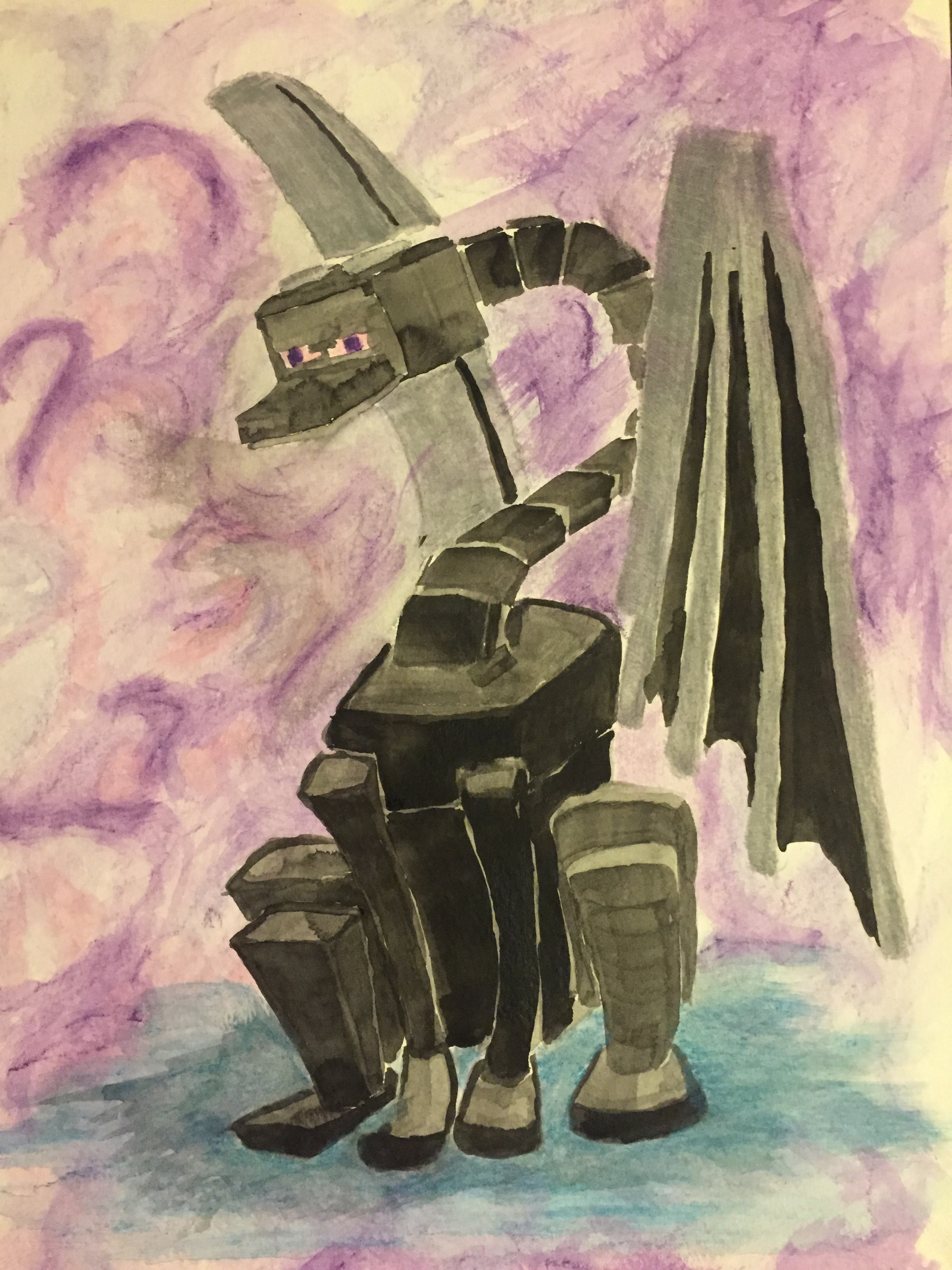 2448x3264 Enderdragon In Watercolor. The Society Of The Coastal Port Lantern