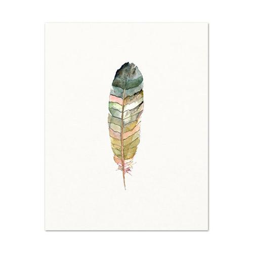 500x500 Minimalist Feather Watercolor Print Katie Diamond Jewelry