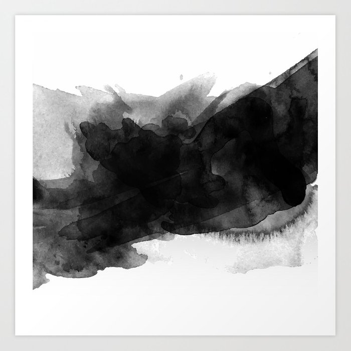 700x700 Minimalist Watercolor Ink Art Print By Valentinestorm Society6