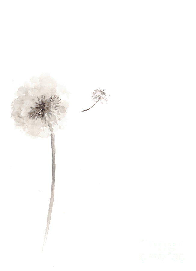 652x900 Watercolor Flower Drawing Minimalist Painting Painting By Joanna
