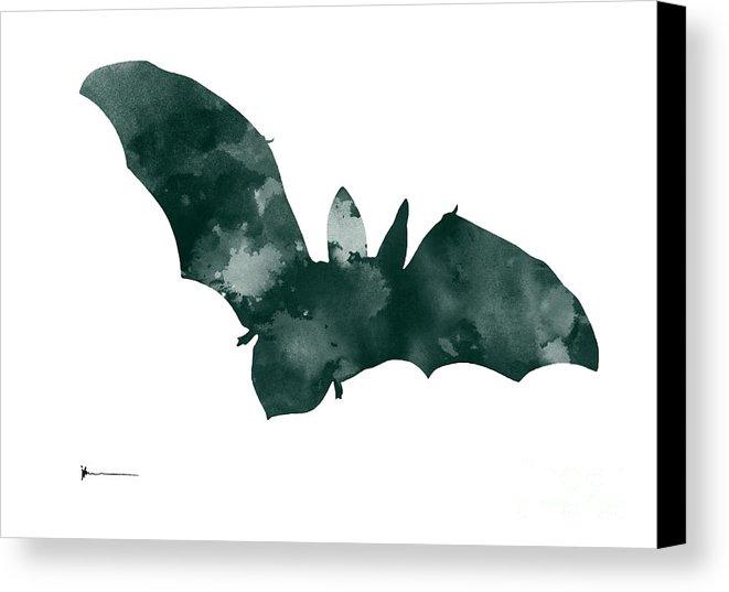 661x537 Bat Minimalist Watercolor Painting For Sale Canvas Print Canvas