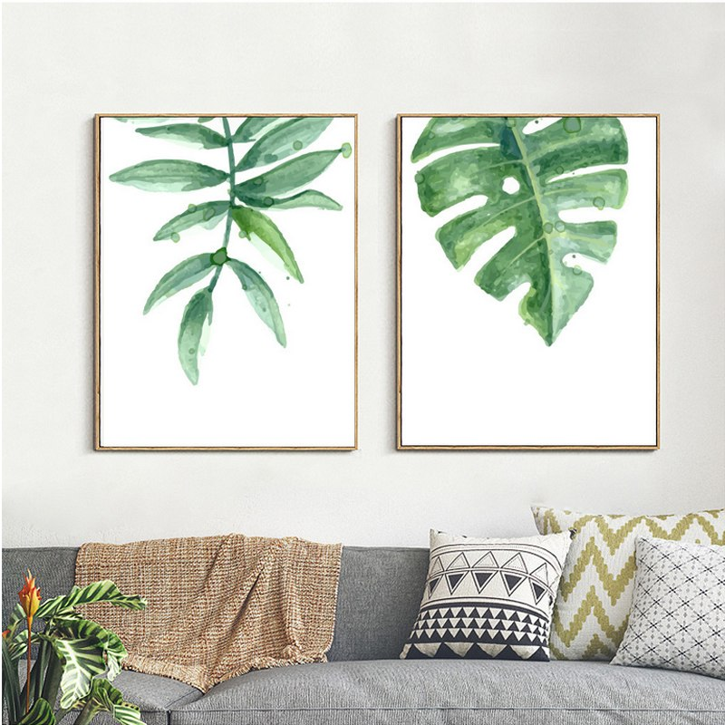 800x800 Watercolor Green Leaves 01