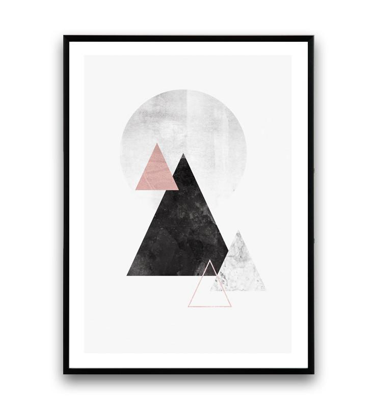730x803 Watercolor Mountains Print, Minimalist Modern Print, Abstract