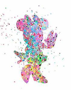 236x300 Abstract Watercolor Splatter Silhouette Art Print Inspired Disney